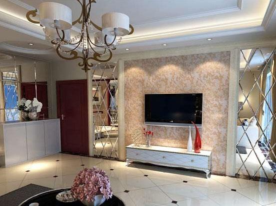 很漂亮很温馨的一款客厅装修,整个客厅的装修采用白色的主色调,显得是格外的高雅,素雅的装饰给人们营造了更舒适的生活环境,而影视墙的装修采用的是壁炉式的装修方式,看起来特别的高雅,特别是简单化的影视墙更加的能够体现出家的温馨!   室内影视墙图片二: